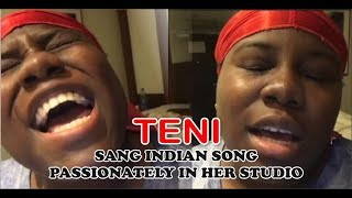 Teni sang Indian song passionately in her studio, WATCH!!!