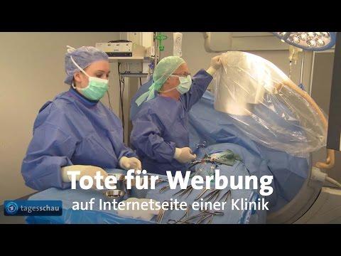 Klinik benutzt Tote für Werbung