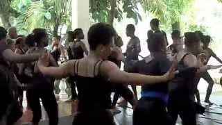 Haitian Folkloric Dance Class at The 2014 Jean Appolon Summer Dance Institute, Hotel Oloffson