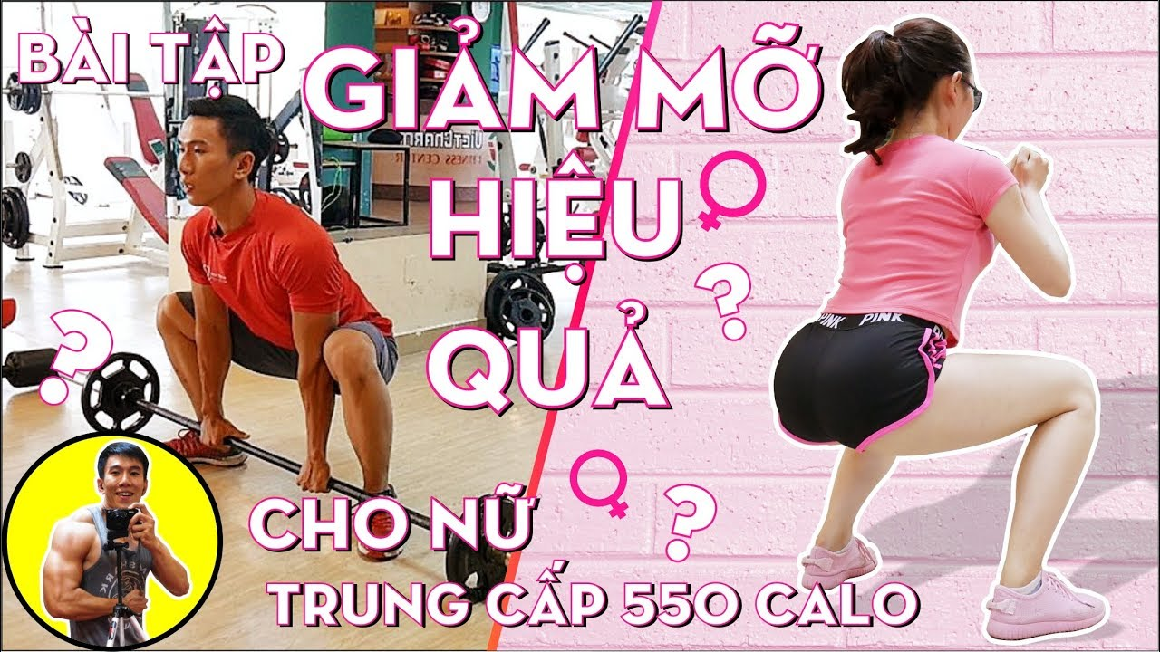 Bài Tập Giảm Mỡ Hiệu Quả Cho Nữ – 550 Calo – Chân Mông Thể Lực | HLV Cá Nhân Ryan Long Fitnes
