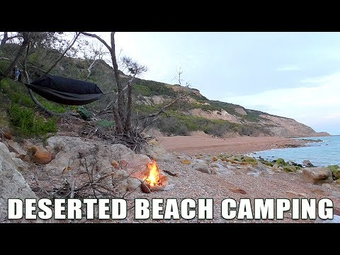 Deserted Beach Wild Hammock Camp