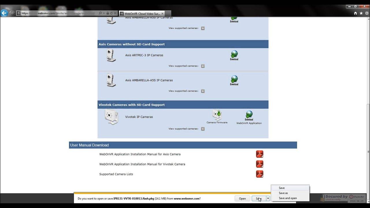 Vivotek Camera Firmware Download and Upgrade