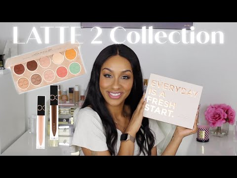 Dominique Cosmetics Latte 2 Eyeshadow Palette + Lipgloss Balms | 2 Looks | First Impression | PART 1