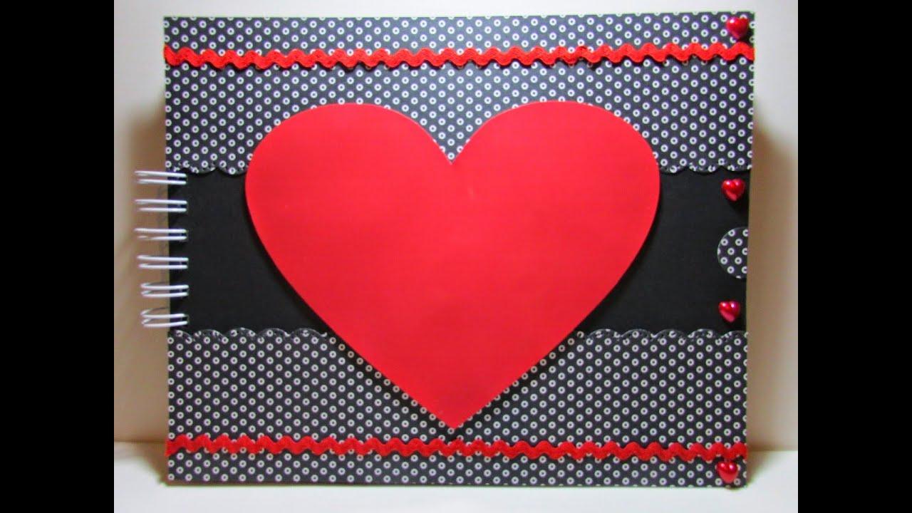 Lbum rom ntico scrapbook dia dos namorados youtube for Como fazer um mural de recados artesanal