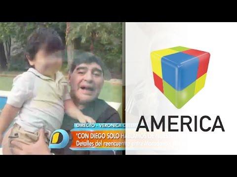 Verónica Ojeda dio detalles del emotivo encuentro entre Maradona y su hijo