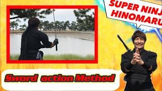 "Sword action tutorial / ""ninja katana how to ""Japan KESAGIRI/Gyakuk..."