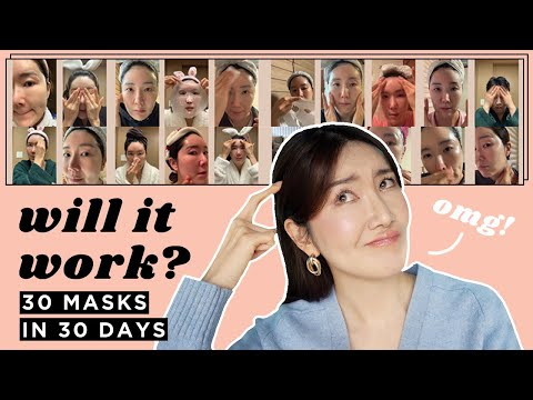 I used 1 Sheet Mask Everyday for 30Days & this is what happened #1sheetmask1day - YouTube