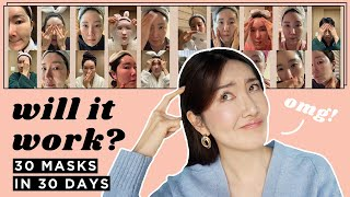 I used 1 Sheet Mask Everyday for 30Days & this is what happened #1sheetmask1day