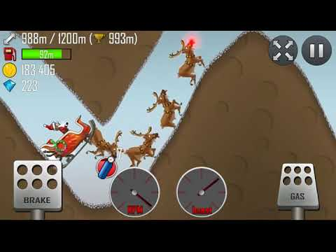 Hill Climb Racing - Sleigh in Cave