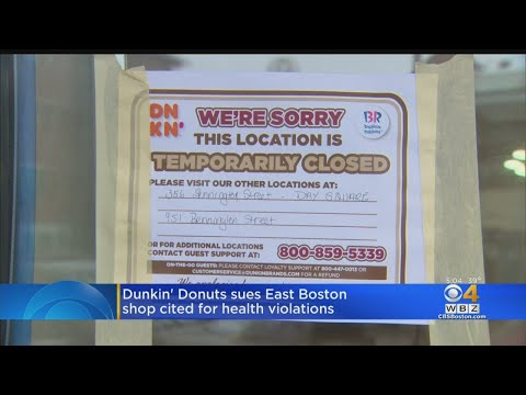 Dunkin' Sues East Boston Franchise Cited For Health Violations