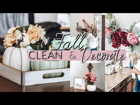 DECORATE WITH ME FOR FALL|SPEED CLEANING MOTIVATION|FALL DECORATING IDEAS 2019
