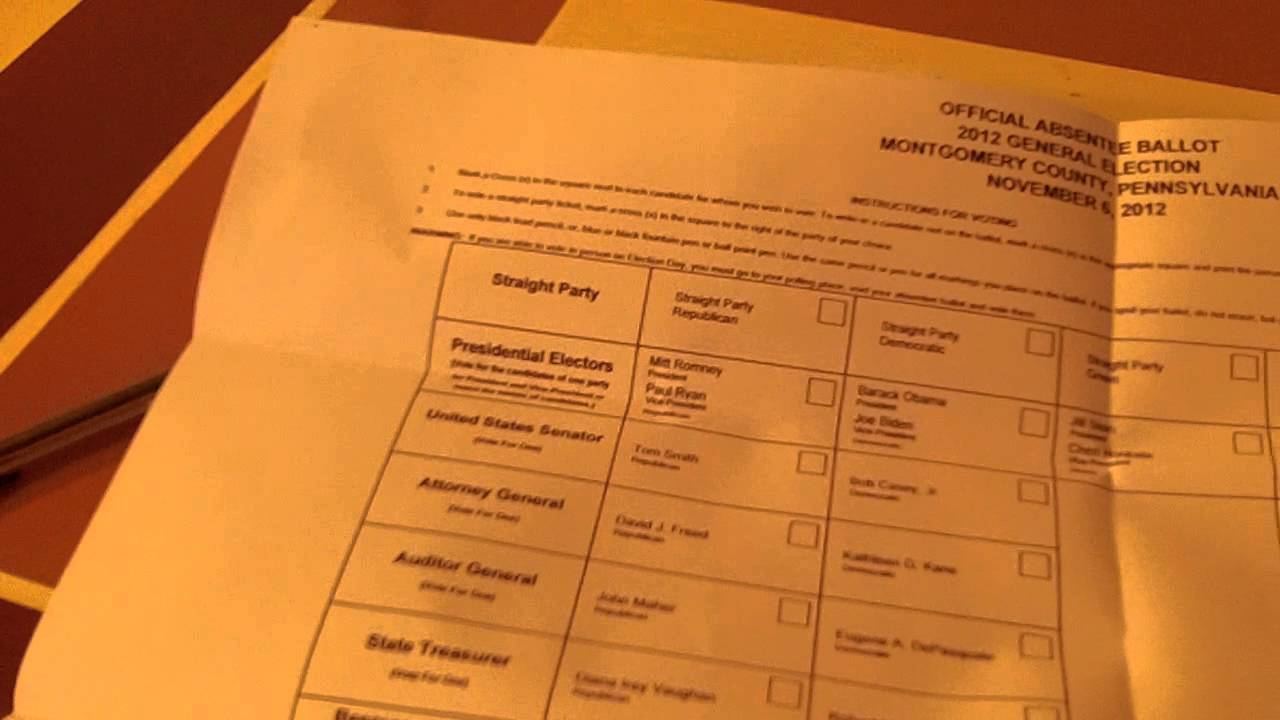 Absentee Ballot - How To Fill Out an United States Absentee Ballot ...