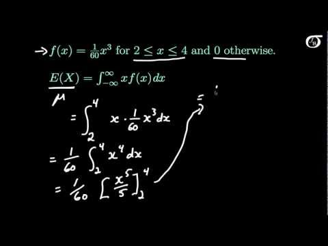 Deriving the Mean and Variance of a Continuous Probability Distribution