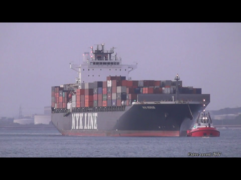 """NYK Line Container Ship """"NYK Remus"""" Southampton from Halifax 8/5/17"""