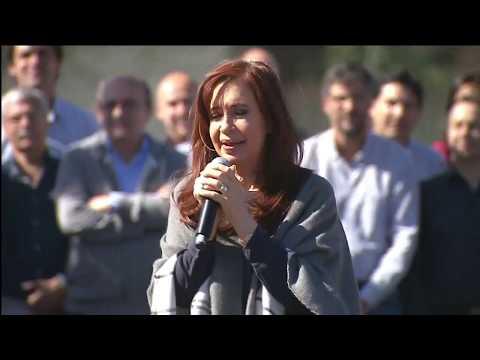 Cristina estuvo en el barrio Malvinas Argentinas de Mar del Plata