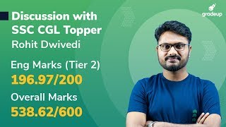 Detailed Discussion with SSC CGL Topper | Live Session @ 5:30 PM