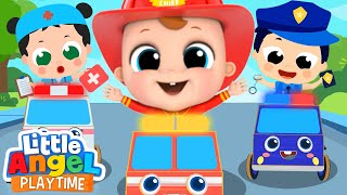 Policeman and Firefighter to the Rescue   The Job Song   Little Angel Kids Songs