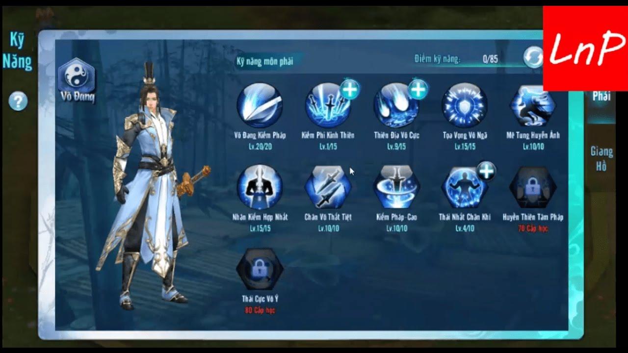 VLTK Mobile - Cách Tăng Kỹ Năng Võ Đang - Clans: Shadow of The Moon -  Legend of Swordman
