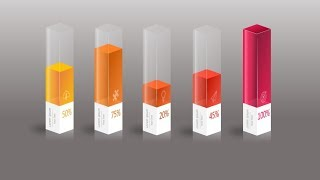 3D creative graph in powerpoint. powerpoint tricks