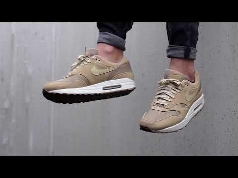 4621976d5ef30 On-Feet: Nike Air Max 1 Premium Leather Khaki - YouTube