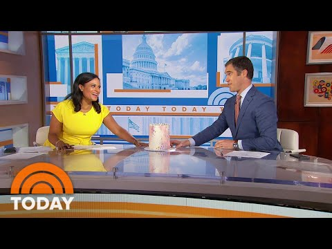 Kristen Welker Surprised With A Cake To Celebrate Her Birthday On Weekend TODAY | TODAY