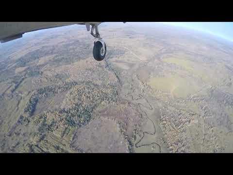 Аэросъемка с самолёта, полёт Киров - Лальск (Луза)