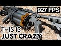8 Joules per BB!!! This grenade launcher is madness