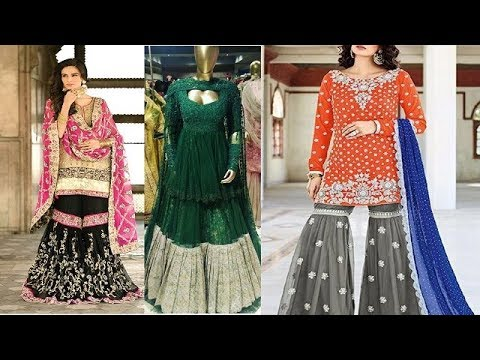 ef79e0e7c5 Latest & Beautiful Sharara Design 2018 / Designer Sharara dress Design by  fashion chemistry