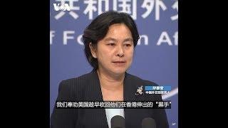 """华春莹:我们奉劝美国趁早收回他们在香港伸出的""""黑手"""""""