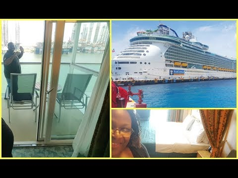 Liberty of the Seas with Deluxe Balcony Stateroom Tour and Embarkation  vlog 1