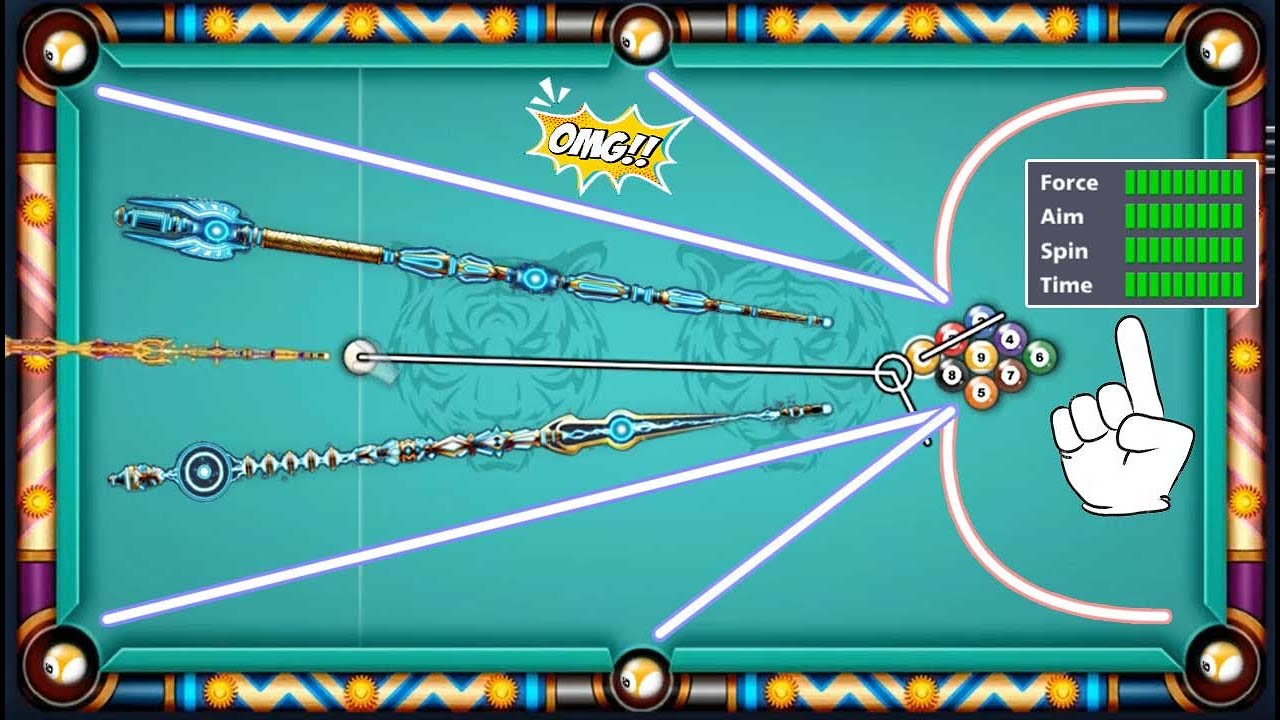 9 ball pool 😮 Legendary Cue Max ✔ Force - Aim - Spin - Time 8 ball pool Miniclip