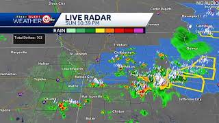 LIVE RADAR: Storms are starting to roll into the metro area.