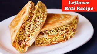 LockDown recipes, Leftover roti recipe, Indian Roti Tacos, roti pockets, instant breakfast recipe