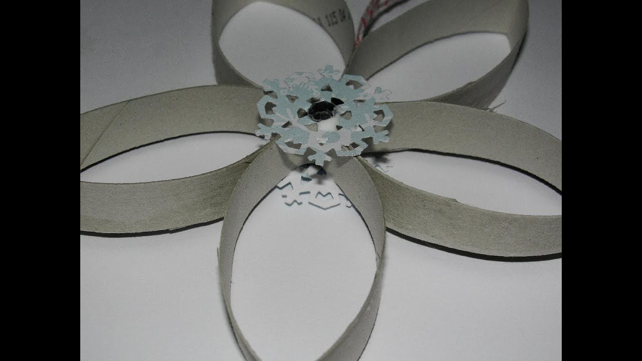 Ornament Made From A Toilet Paper Roll Snowflake Ornament YouTube - Gold flake toilet paper