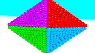 Learn Colors With 3D Diamond Shape Spiral with a lot of Balls For Toddlers #z Kids Children Babies