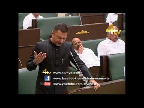 Akbar Owaisi Participate in Assemblay for Various issue 08-11-2017