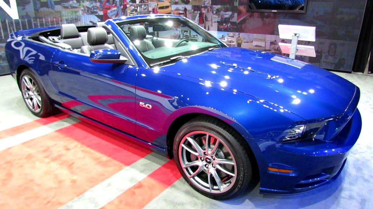 2014 ford mustang gt convertible exterior and interior walkaround 2013 la auto show