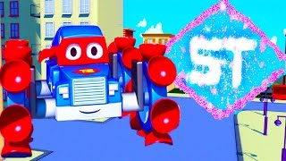 Carl the Super Truck is : Climbing Carl in Car City | Trucks and Cars Cartoon for kids
