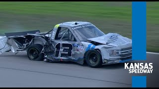 Big Crash: Playoff shakeup in Gander Trucks after big wreck at Kansas | NASCAR