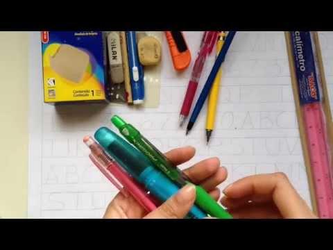 Mis materiales de dibujo técnico - Stephanie Vlog