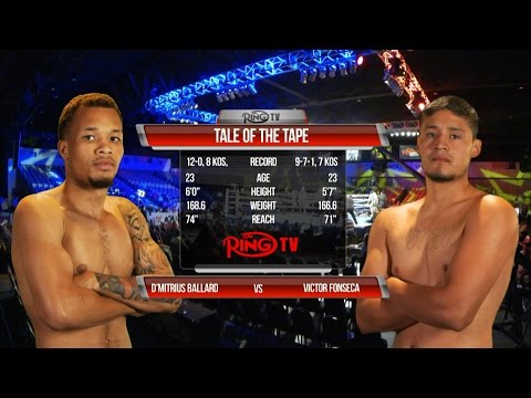Fight #1   SUPER MIDDLEWEIGHTS   D'Mitrius BALLARD vs  Victor FONSECA   Fantasy Springs 5 20 2016