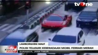 Rekaman CCTV Ferrari Merah saat Kecelakaan Maut Lamborghini ~ Berita Terkini 4 Desember 2015