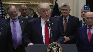 President Trump Signs an Executive Order on Implementing an America-First Offshore Energy Strategy