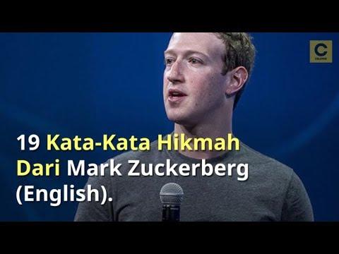 19 Kata Kata Hikmah Dari Mark Zuckerberg English Youtube