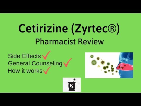Cetirizine (Zyrtec) - Cetirizine Side Effects, How it Works, General Counseling