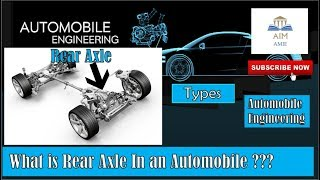 What is Rear Axle & Its Types in Automobiles??  ||Engineer's Academy||
