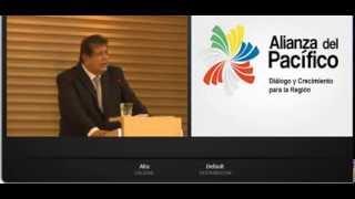 Presidente Alan García disertando sobre Alcances de la Alianza del Pacifico - Bogota