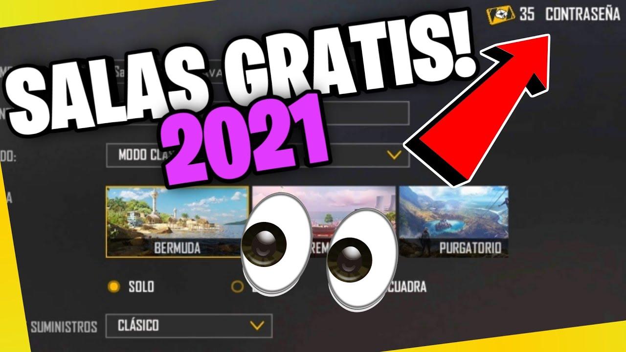 NUEVO TRUCO para CONSEGUIR SALAS GRATIS EN FREE FIRE! 🤯 COMO TENER SALAS  GRATIS en 2021 🚀 - YouTube