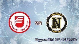 EVU07 Punainen vs Nikkarit Black