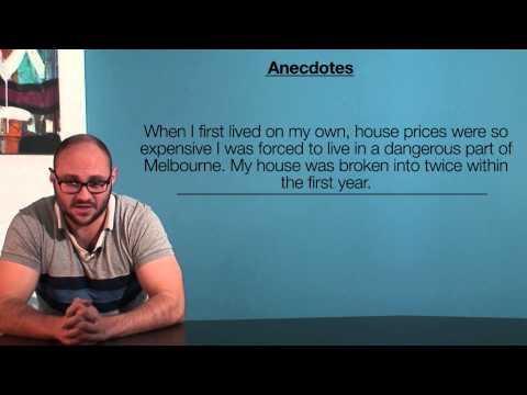 VCE English - Anecdotes (Language Analysis)